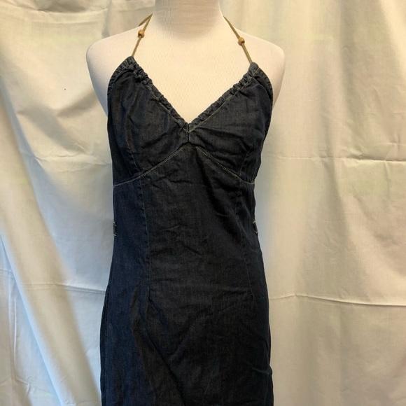 0ff3890b24 Tommy Hilfiger Dresses | Halter Denim Pencil Mini Dress Retro Tommy ...